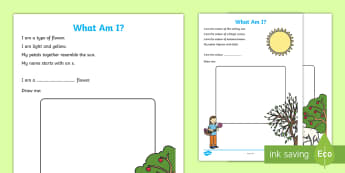 Spring - What Am I? Activity Sheet - Special Education, seasons, spring, weather, sunshine, questions, Australia, Worksheet