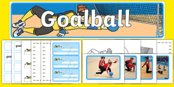 The Paralympics Goalball Resource Pack - Goalball, ball, Paralympics, sports, wheelchair, visually impaired, pack, resource, resources, 2012, London, Olympics, events, medal, compete, Olympic Games