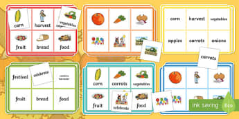 Harvest Bingo Game
