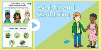 World Mental Health Day KS1 Assembly PowerPoint - Mind, Emotions, Healthy, Key Stage One, Class, School, Classroom,