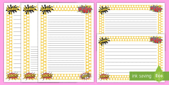 Superhero Page Borders - superheroes, writing aid, write, border, literacy, writing