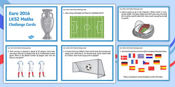 Euro 2016 LKS2 Maths Challenge Cards