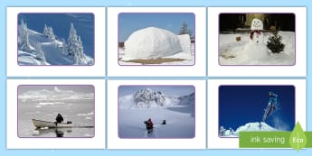 Snow Display Photos - EYFS, Early Years, Winter, snow, weather, season, cold, frost, snowman, snowflakes.