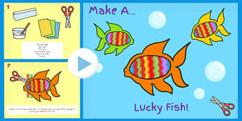 Chinese New Year Make Lucky Fish Activity Instructions PowerPoint