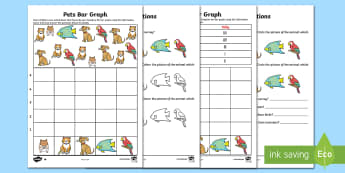 Bar Graphs With Pets Differentiated Activity Sheets - bar graphs, collecting data, collating data, mathematics, ACMSP263, ACMSP049, ACMSP050, ACMSP069, AC