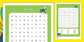 Rio 2016 Olympics Judo Word Search - rio 2016, 2016 olympics, rio olympics, judo, word search