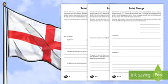 KS2 St. George's Day Persuasive Letter Differentiated Activity Sheets - KS2 St. George's Day (23rd April 2017), English, persuasive writing, writing frame, formal letter