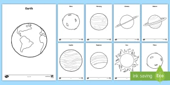 Planets Coloring Pages - space, outer space, planets, solar system, earth, mars, mercury, venus, jupiter, uranus, saturn, nep