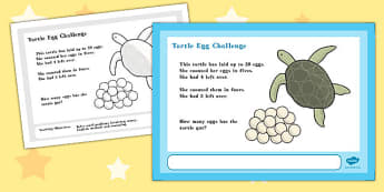 A4 Turtle Egg Maths Challenge Poster - challenge, poster, maths
