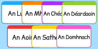 Days of the Week Flashcards Gaeilge - roi, irish, gaeilge, days, week, days of the week, flashcards, flash cards