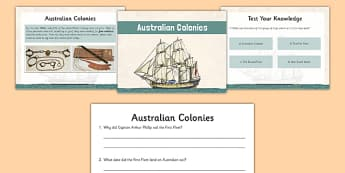 Australian Colonies Resource Pack - australia, Australian Colonisation, Australian Colonies, First Fleet, Stage 3, Stage 2, Year 4, Year 5, Year 6