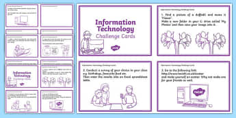 General ICT Task Cards - general ICT, task cards, ICT task cards, task cards for ICT, ICT tasks, ICT cards,, cards for ICT tasks, ICT, computer tasks
