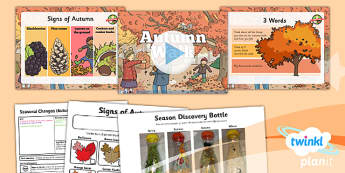 Science: Seasonal Changes (Autumn and Winter): Autumn Walk Year 1 Lesson Pack 3