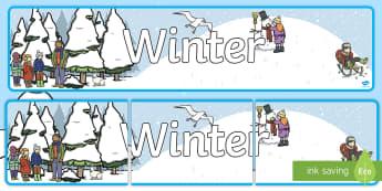 Winter Display Banner - winter, banner, display, decor