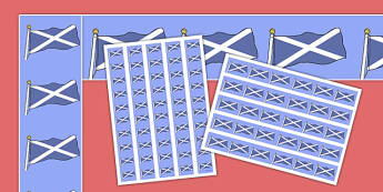 Scottish Flag Display Borders - Tartan, Scotland, Scottish, display border, classroom border, border, country, pattern