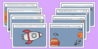 În spațiu - Planșete pentru modelajul cu plastilină - planșetă, plastilină, arte, manualitate, spațiu, cosmos, cadru de scriere, pașaport, intergalactic, planete, în spațiu, univers, stele, planșe, imagini, cuvinte, materiale didactice, română, roman