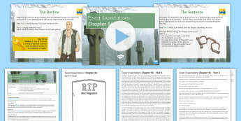 Great Expectations Chapter 56 Lesson Pack - Charles Dickens, Abel Magwitch, Pip, death sentence, execution, pathos, deathbed scene.