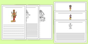 Hinduism Writing Frames - hinduism, writing frames, writing, frame, religion