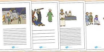 The Wedding Feast Writing Frames - parables, wedding feast, feast