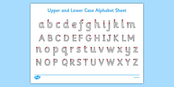 Upper and Lower Case Letters Activity Sheet - ESL Handwriting