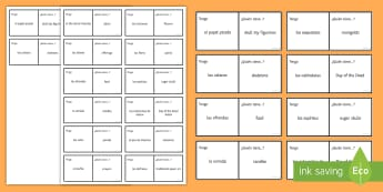 KS3 Mexican Day of the Dead Loop Cards Spanish - Halloween, Game, Day, Dead, Vocabulary, Spellings, Mexico, Traditions, Festivities, Celebrations, di