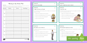 Transition to 3-5 Scenario Cards Activity Pack - Back to School, scenario cards, 3rd grade, third grade, 4th grade, fourth grade, 5th grade, fifth gr