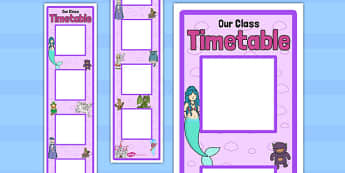 Fantasy Themed Vertical Visual Timetable Display - display, timetable