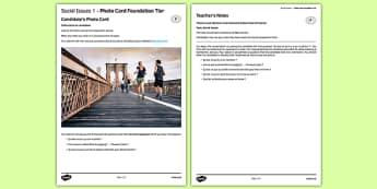 Les problèmes sociaux 1 Carte photo Foundation Tier - picture, problèmes, sociaux,society, problems, french, francais, gcse, practice