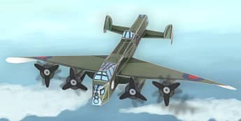 Lancaster Bomber Paper Model - lancaster bomber, model, paper