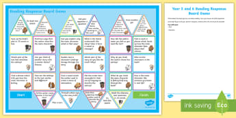 Year 5/6 Reading Response Board Game -  Y5, UKS2, Comprehension, Understanding, Reading Dogs, Home, Parents, Questioning