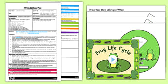Life Cycle of a Frog Spin Wheel Activity EYFS Adult Input Plan and Resource Pack