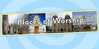 Places of Worship Photo Display Banner - space, photo display banner, photo banner, display banner, banner,  banner for display, display photo, display