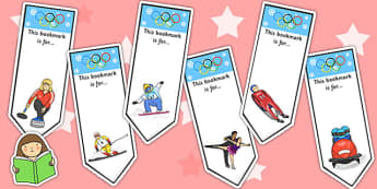 Winter Olympics Bookmarks - winter, olympics, bookmark, award