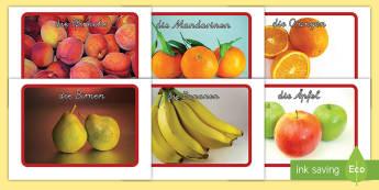 Früchte Wortschatz: Wort- und Bildkarten - Früchte Wortschatz: Wort-und Bilderkarten, Früchte, Früchte Wortschatz, Früchte Wortkarten, Frü