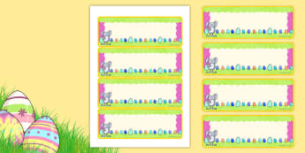 Easter Themed Editable Lables - easter, labels, signs, religion
