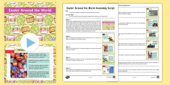 Easter Around the World Assembly Script and PowerPoint Pack - KS1 Easter 2017 (16th April), Easter, assembly, traditions, festivals, christian, religion, religiou