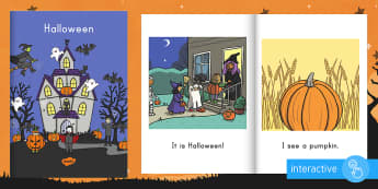 Halloween Emergent Reader eBook - Emergent Reader, ELA, Guided Reading, Pre-K, Sight Words, Halloween, Trick-or-Treat