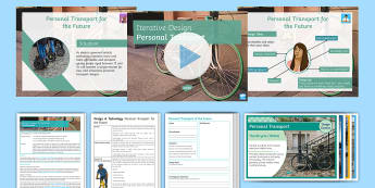 Personal Transport of the Future Lesson Pack - transition, dt, design, brief, product, year 6