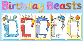 Birthday Beasts Display Pack