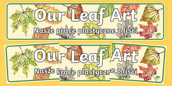 Our Leaf Art Display Banner Polish Translation-Polish-translation