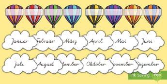 Heißluftballon Geburtstagsschilder für die Klassenraumgestaltung - Heißluftballon Geburtstagsschilder für die Klassenraumgestaltung, Klassenraumgestaltung, Heißluft