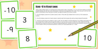 10 10 Digit Cards and Activity - place value, numeracy, KS2