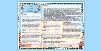 Circus Lesson Plan Ideas KS2 - circus, lesson plan, lessons, KS2