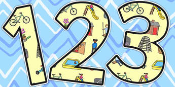 Outdoor Play Area Themed Display Numbers - outdoor, play, area