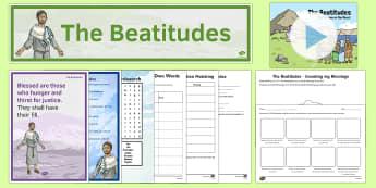 The Beatitudes Resource Pack - CfE Catholic Christianity, prayers, mass responses, beatitudes, blessings