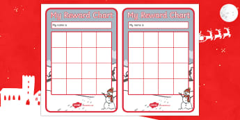 Snowman Themed Reward Chart - Christmas, Nativity, Jesus, xmas, Xmas, Father Christmas, Santa, St Nic, Saint Nicholas, traditions