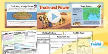 PlanIt - History UKS2 - Early Islamic Civilisation Lesson 6: Trade and Power Lesson Pack - Silk Road, Baghdad, trade, Islam, power, perfume, Al-Kindi, Jabir ibn Hayyan