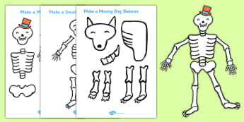 Make a Moving Skeleton Pack to Support Teaching on Funnybones - funny bones, moving, skeleton, pack, activity