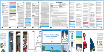 EYFS Clothes-Themed Adult Input Planning and Resource Pack - EYFS, Early Years Planning, Adult Led, Clothes, Uniform, Dressing Up, Getting dressed, trousers, sho