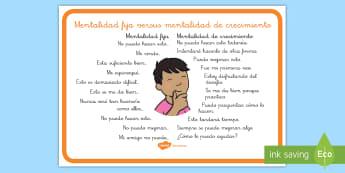 Póster DIN A4: Mentalidad de crecimiento - póster DIN A4, póster, poster, mentalidad, crecimiento, mentalidad, fija,Spanish